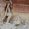 Massive Rock Cut Sculpture Depicting Vishnu In His Varaha Incarn