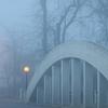 Meridian Arch Bridge In The Fog