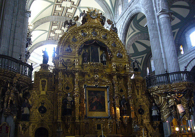 Mexico City Metropolitana Cathedral Interior