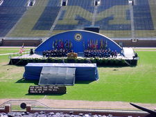 Graduation Ceremony At Michigan Stadium