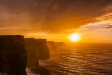Moher Sunset In Co. Clare