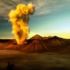 Mount Bromo Erupting - East Java