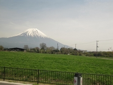 Mount Fuji Over Surrounding Landscape