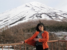 Mount Fuji Visitor At Viewing Platform