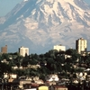 Mount Rainier Over Tacoma