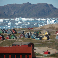 Multi-colored Houses In Narsaq