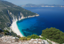 Myrtos Beach As Seen From The Coast Road