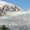 Mendenhall Glacier And Frozen Mendenhall Lake