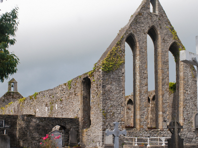 East Gable With Lancet Windows Of The Franciscan Friary