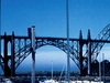 Newport Waterfront With The Yaquina Bay Bridge
