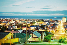 Nighttime Summer View Of Punta Arenas