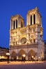 Night View Of Notre Dame De Paris