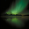 Northern Lights Over Tasiilaq Mountains