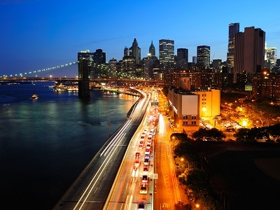NY East River Night View