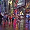 NY Times Square In Rain