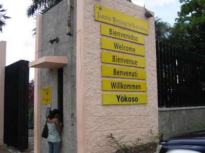 National  Botanical  Garden  Santo  Domingo  Entrance