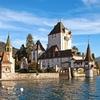 Oberhofen Castle - Lake Thun - Bern Switzerland