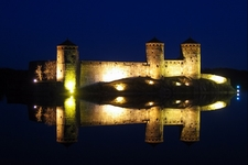 Olavinlinna In Savonlinna By Night