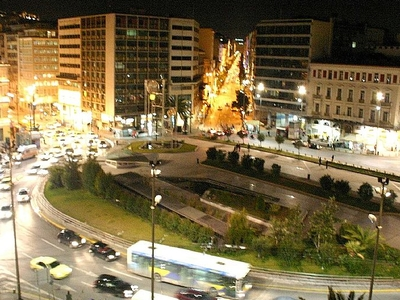 Omonoia Square At Night