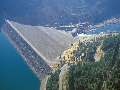 Overview Of Trinity Dam