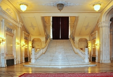 Palace Of The Parliament Entrance - Bucharest