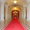 Palace Of The Parliament Hallway In Bucharest