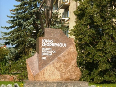 Sculpture For Jonas Chodkevicius In Skuodas