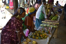 Papua New Guinea - Fruit Vendor Stalls