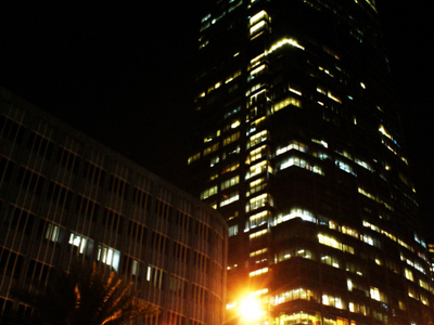 P B Com Towerat Night