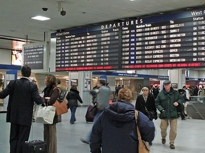 Penn Station Departure Board