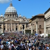 People Outside Vatican Palace - Rome