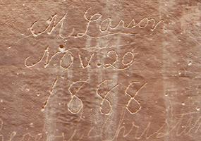 Navajo Sandstone Dune Lines in Capitol Gorge