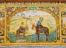 Plaza De Espana Mural Detail - Sevilla - Andalusia