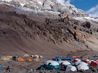 Plaza de Mulas Base Camp
