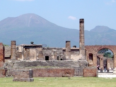 Pompeii, With Vesuvius Towering Above