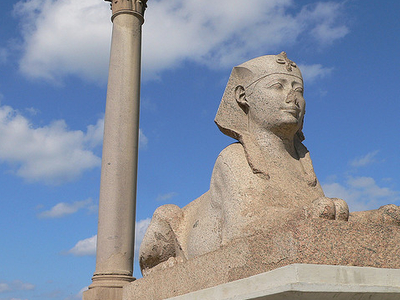 Pompey's Pillar At Alexandria - Egypt