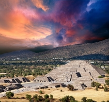 Pyramid Of The Moon In Teotihuacan