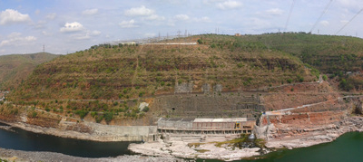 View Of The Hills At The Srisailam Dam