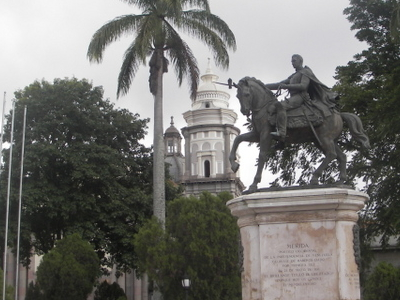 View Of The Bolívar Square
