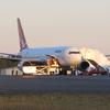 A Qantas Boeing 767–300 At Hobart Airport