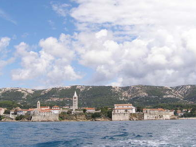 Rab Town From The See