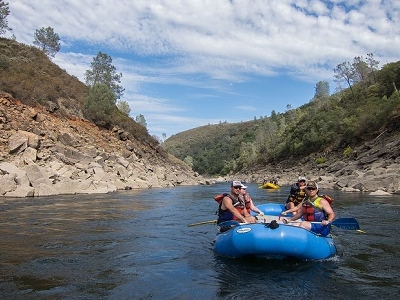 Rafting In Folsom Reservoir - American River CA