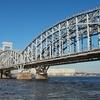 Railway Bridge Across Neva River In St. Petersburg - Finland