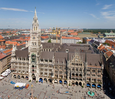 View Of The Marienplatz And The New City Hall
