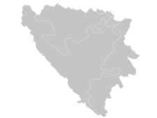 Regional Map Of Bosnia And Herzegovina