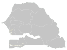 Regional Map Of Senegal