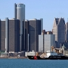 Renaissance Center From Detroit River