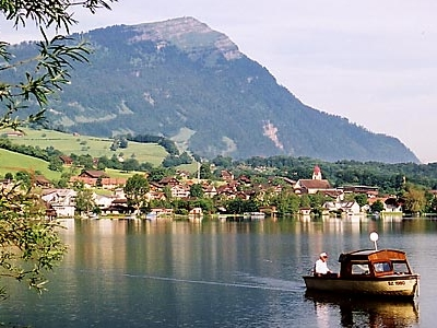 Rigi Behind Lake Lauerz