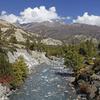 River In Nepal Annapurna Region