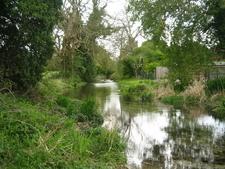 River Lambourn Leaving Lambourn
